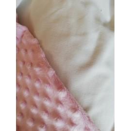 Doudou minky (doublure crème) avec prénom et motif
