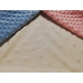Doudou minky (doublure mickey crème) avec prénom et motif