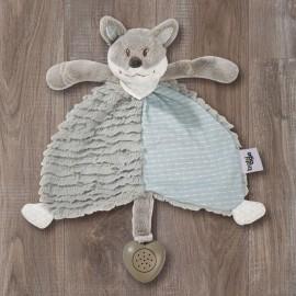 Doudou Foxy plat - bruit blanc - 30cm