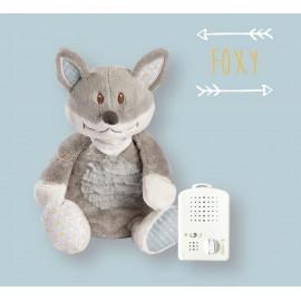 Peluche Foxy - bruit blanc - 25cm