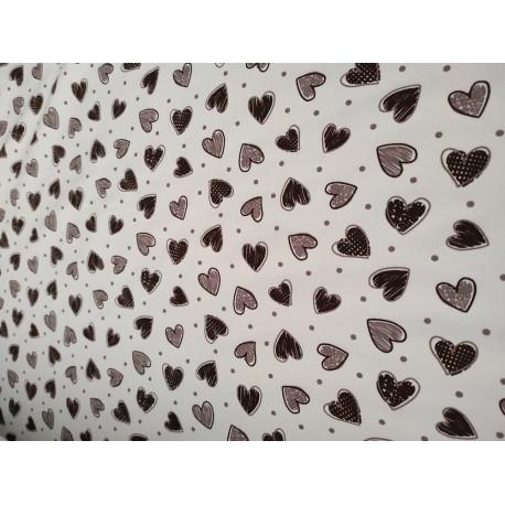 Doudou minky (doublure coeur crème) avec prénom et motif