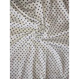 Doudou minky (doublure blanche pois) avec prénom et motif