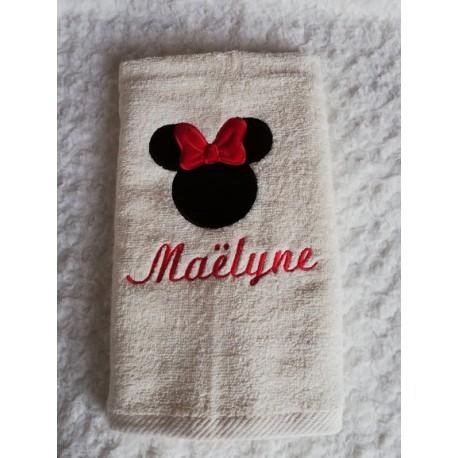 Serviette de bain avec prénom et motif 50*90cm