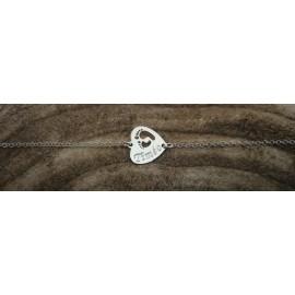 Bracelet coeur gravé personnalisé